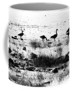 Canada Geese In Black And White Coffee Mug