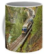 Canadan Railroad Above The Cheakamus River Coffee Mug