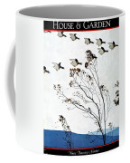 Canadian Geese Over Brown-leafed Trees Coffee Mug