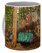Canadian Pacific Box Car Wreckage Coffee Mug