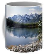 1m3541-canadian Peak Reflected In Herbert Lake Coffee Mug