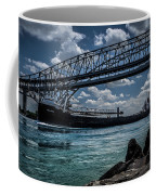 Canadian Tranfer Under Blue Water Bridges Coffee Mug