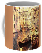 Canal And Docked Gondolas In Venice Coffee Mug