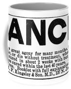 Cancer Treatment, C1875 Coffee Mug