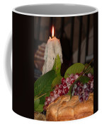 Candle And Grapes Coffee Mug by Marcia Socolik
