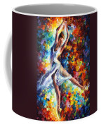 Candle Fire - Palette Knife Oil Painting On Canvas By Leonid Afremov Coffee Mug