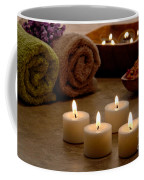 Candles In A Spa Coffee Mug