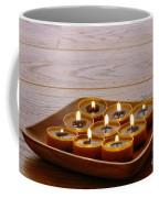 Candles In Wood Tray Coffee Mug