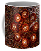 Candles Spiritual Circle Coffee Mug by Olivier Le Queinec
