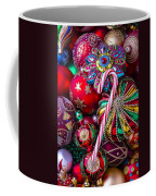 Candy Canes And Colorful Ornaments Coffee Mug