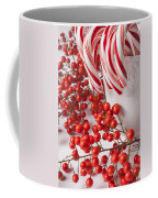 Candy Canes And Red Berries Coffee Mug