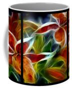 Candy Lily Fractal Triptych Coffee Mug