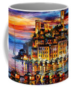 Cannes-france - Palette Knlfe Oil Painting On Canvas By Leonid Afremov Coffee Mug