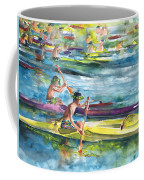 Canoe Race In Polynesia Coffee Mug
