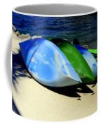 Canoe Shadows Coffee Mug by Karen Wiles