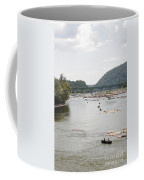 Canoeing On The Potomac River At Harpers Ferry Coffee Mug