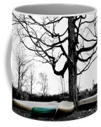 Canoes In Winter Coffee Mug