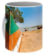Canoes On A Lakeshore Coffee Mug