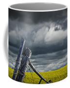 Canola Field In Southern Alberta Coffee Mug