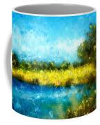 Canola Fields Impressionist Landscape Painting Coffee Mug
