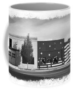 Canon City Facades - Black And White Edge Burn Coffee Mug