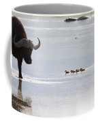 Cape Buffalo And Baby Eygptian Geese   #0375 Coffee Mug