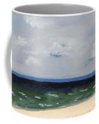 Cape Cod White Caps At Chapoquoit Beach Coffee Mug