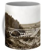 Cape Creek Bridge And Heceta Oregon Head Lighthouse  Circa1933 Coffee Mug
