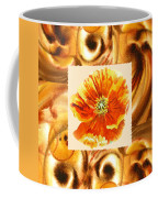 Cappuccino Abstract Collage Poppy Coffee Mug