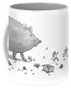 Captionless. Cctk. A Giant Rat Chases Scientists Coffee Mug