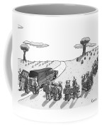 Captionless. In A Cemetery Coffee Mug