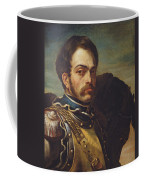 Carabinier Officer With His Horse, C.1814 Oil On Canvas Coffee Mug