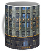 Carbide And Carbon Building Coffee Mug by Adam Romanowicz