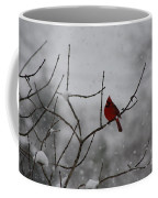 Cardinal In The Snow Coffee Mug