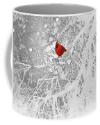 Cardinal In Winter Coffee Mug by Ellen Henneke