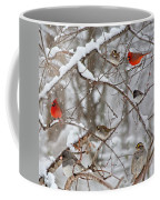 Cardinal Meeting In The Snow Coffee Mug