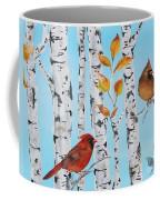 Cardinals Among The Birch-d Coffee Mug