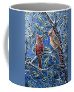 Cardinals And Holly Coffee Mug