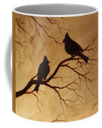 Cardinals Silhouettes Coffee Painting Coffee Mug