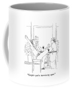 Careful - You're Interviewing Again Coffee Mug