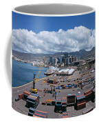 Cargo Containers At A Harbor, Honolulu Coffee Mug