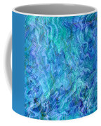 Caribbean Blue Abstract Coffee Mug