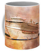 Caribbean Princess In A Different Light Coffee Mug by Betsy Knapp