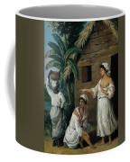 Caribbean Women In Front Of A Hut Coffee Mug