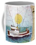 Carina Trawl Fishing Boat Nautical Chart Map Art Coffee Mug