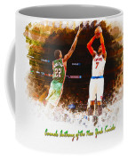 Carmelo Anthony Of The New York Knicks Coffee Mug