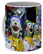 Carnival Clowns Coffee Mug by Kaye Menner
