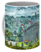 Carnival - The Thrill Ride Coffee Mug by Mike Savad