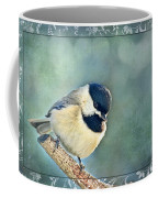 Carolina Chickadee With Decorative Frame I Coffee Mug