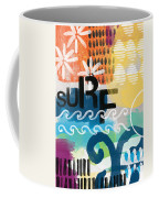 Carousel #7 Surf - Contemporary Abstract Art Coffee Mug by Linda Woods